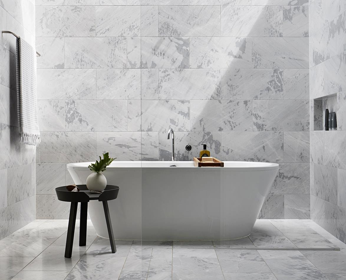 The latest bathroom tile trends