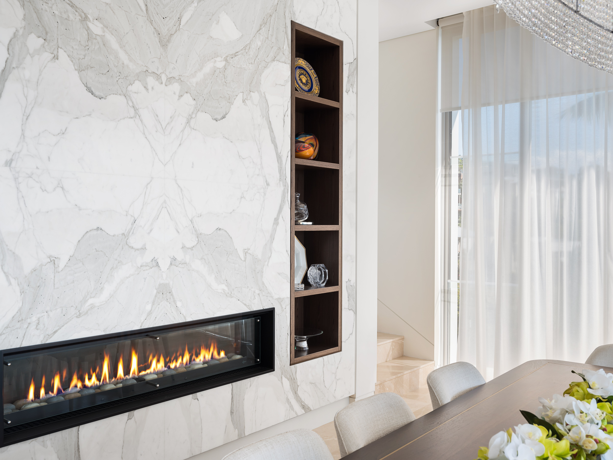 custom fireplace cabinetry