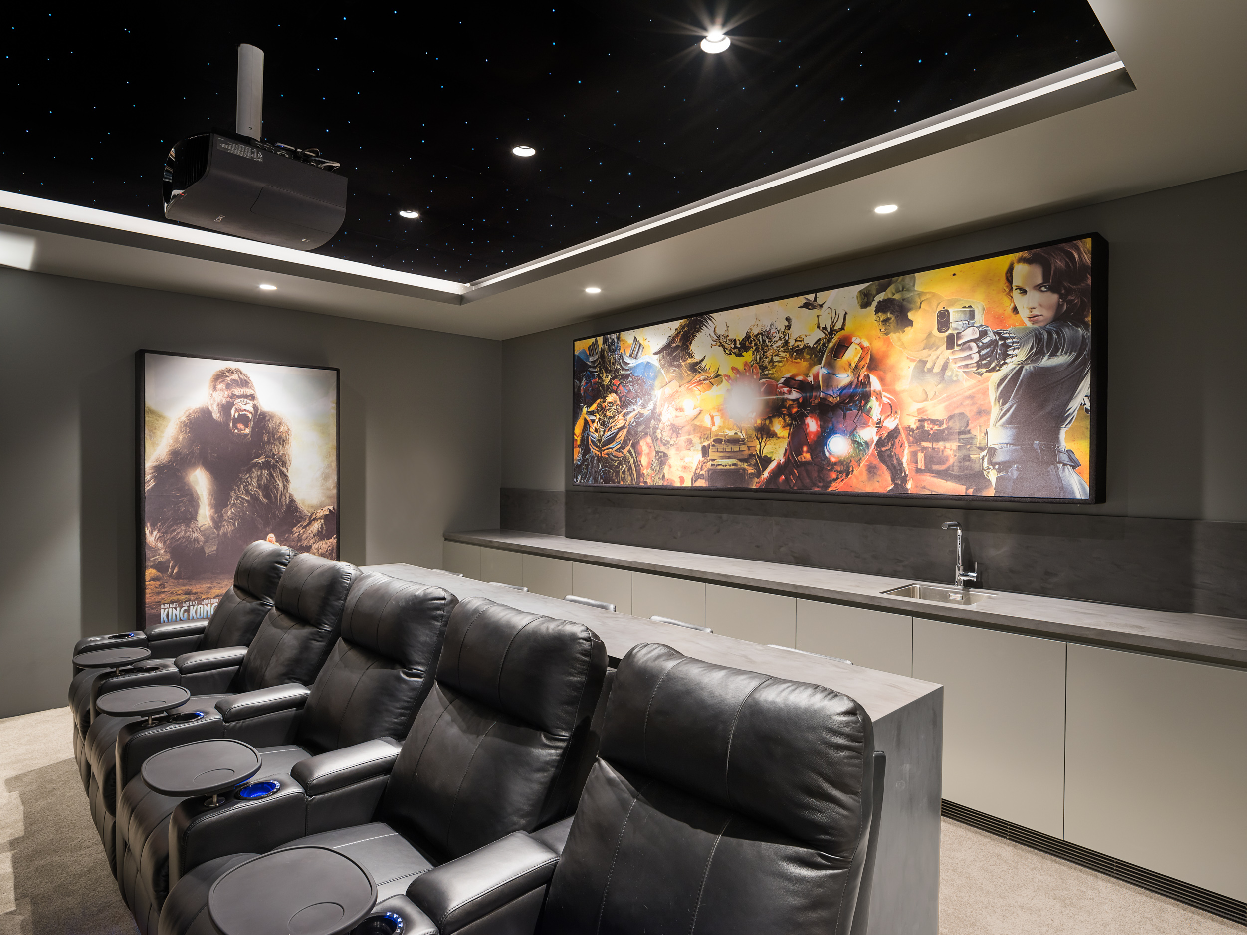 custom cinema room cabinetry