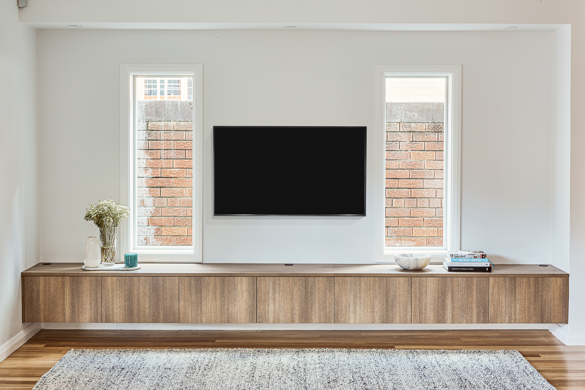 custom joinery TV cabinet